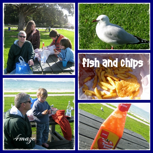 Fish and chips maraetai montage
